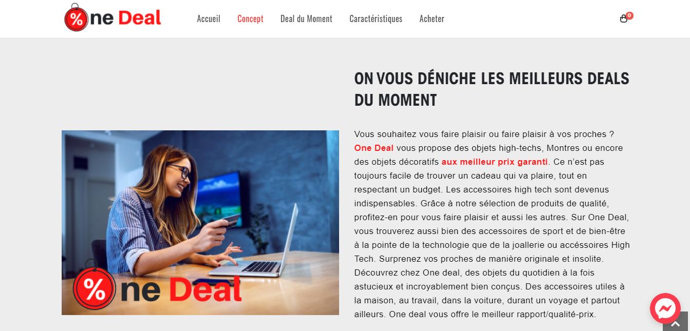 One deal - Agence Web Ile Maurice