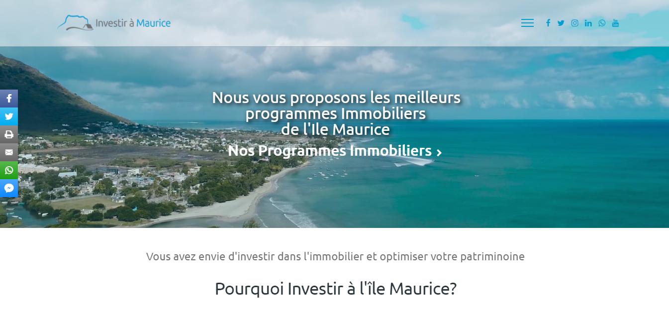 Investir a maurice - Creation site web ile maurice