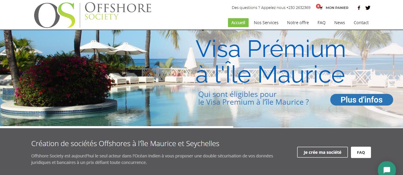 offshore society - agence web ile maurice